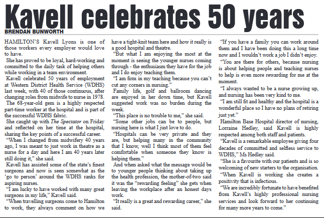 Kavell celebrats 50 years