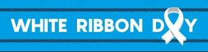 White Ribbon Header
